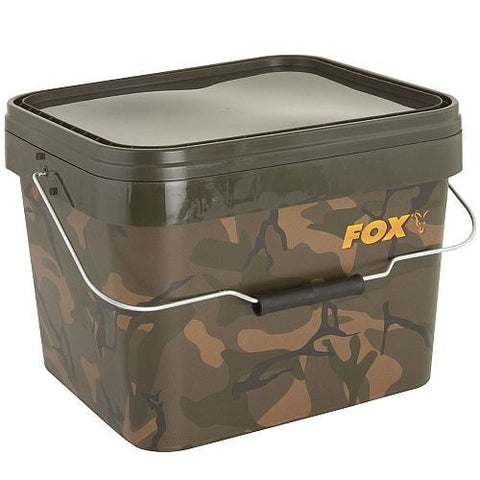 Fox Camo Square Bucket 5ltr, Buckets, Fox, Bankside Tackle