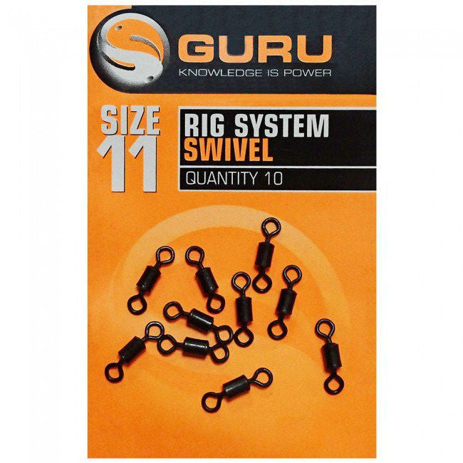 Guru Size 11 Rig System Swivels, Coarse Accessories, Guru, Bankside Tackle