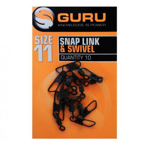 Guru Size 11 Snap Link and Swivel, Coarse Accessories, Guru, Bankside Tackle