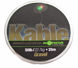 Korda Kable Advanced Leadcore Gravel 25m Spool, Leadcore, Leaders & Tubing, Korda, Bankside Tackle