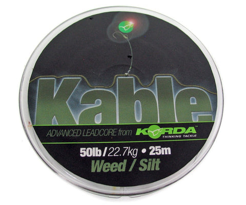 Korda Kable Advanced Leadcore Weed/Silt 25m Spool, Leadcore, Leaders & Tubing, Korda, Bankside Tackle