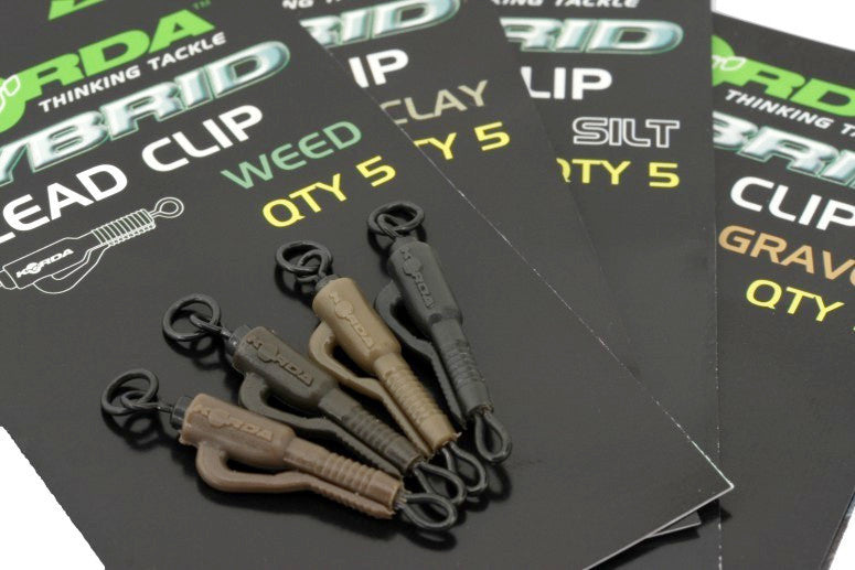 Korda NEW Fishing Hybrid Lead Clip and Tail Rubber Weed KHCW