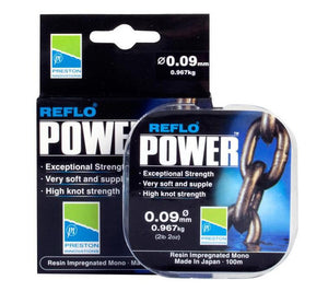 Preston Innovations Reflo Power Hooklink Line, Coarse Line, Preston Innovations, Bankside Tackle