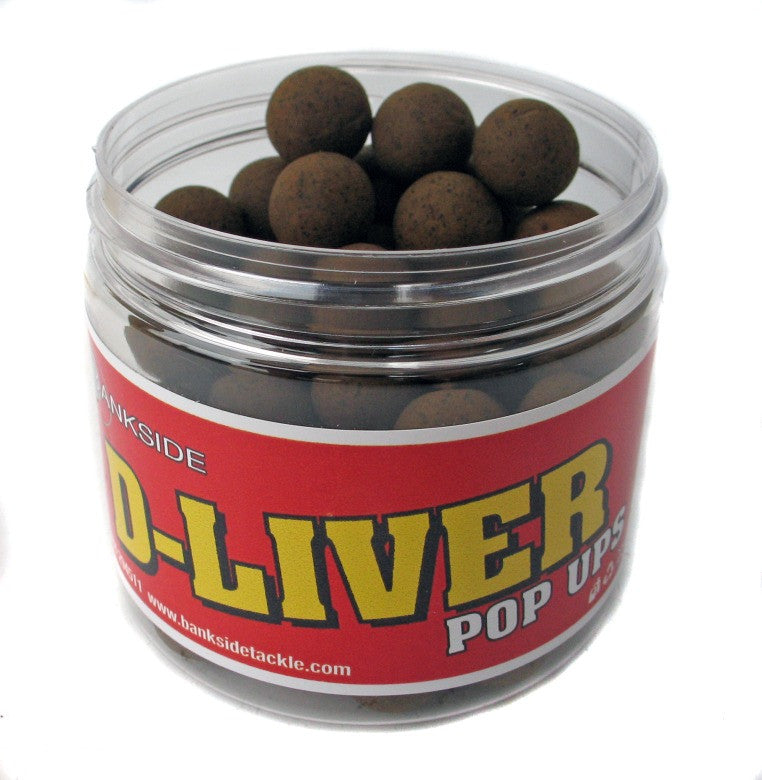 Bankside D-Liver Pop-Ups 14mm, Hookbaits, Bankside Baits, Bankside Tackle