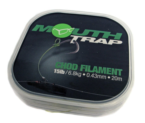 Korda Mouth Trap Chod Filament, Hooklinks, Korda, Bankside Tackle