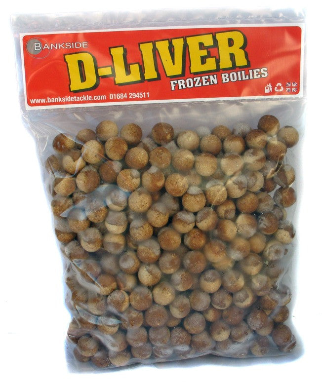 Bankside D-Liver Frozen Boilies 20mm, Boilies, Bankside Baits, Bankside Tackle