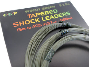 ESP Tapered Shock Leaders, 3pk, Leadcore, Leaders & Tubing, ESP, Bankside Tackle
