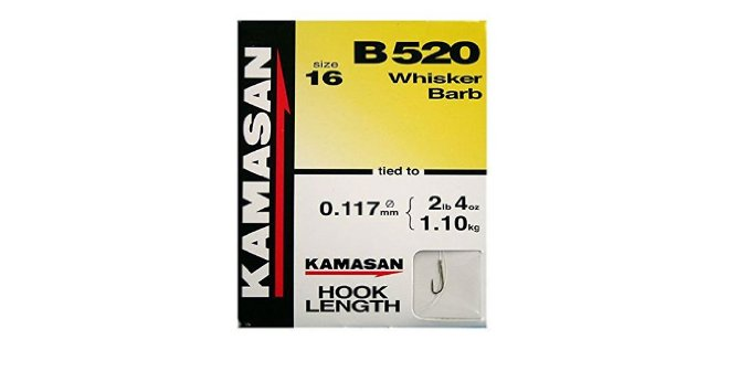 Kamasan B520 Barbed Hooks To Nylon