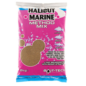 Bait Tech Marine Halibut Method Mix 2kg, Groundbaits, Bait-Tech, Bankside Tackle