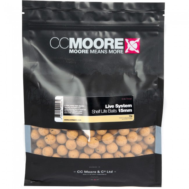 CC Moore Live System 15mm Shelf-Life Boilies