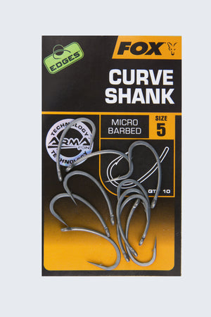 Fox Edges Curve Shank Hooks, Carp Hooks, Fox, Bankside Tackle