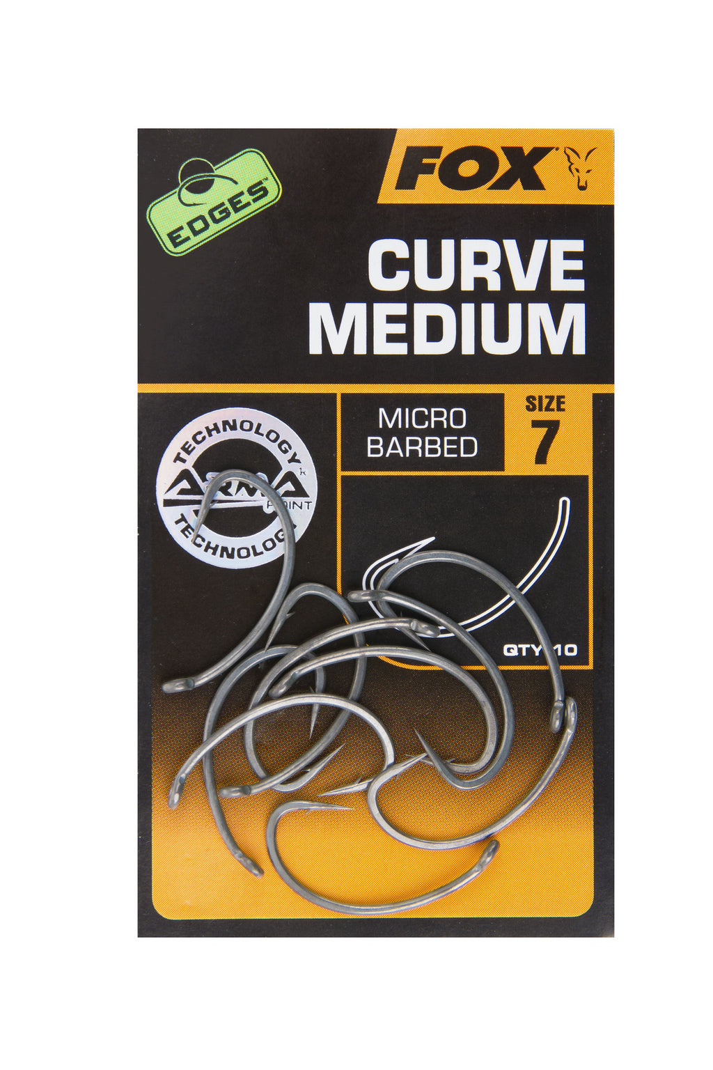 Fox Edges Medium Curve Shank Hooks, Carp Hooks, Fox, Bankside Tackle