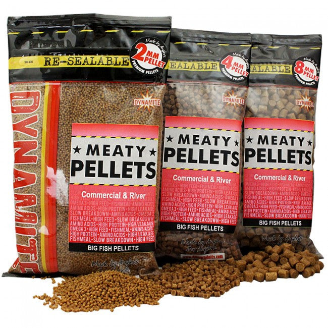 Dynamite Baits Meaty Pellets 4mm, Groundbaits, Dynamite Baits, Bankside Tackle