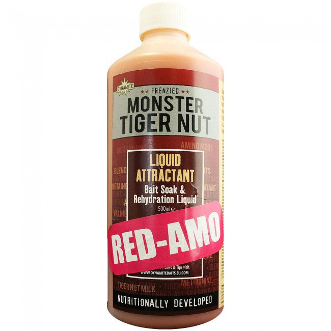 Dynamite Baits Monster Tiger Nut Red Amo Liquid Attractant, Bait Dips & Glugs, Dynamite Baits, Bankside Tackle