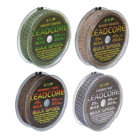 ESP Leadcore 25m Bulk Spool, Leadcore, Leaders & Tubing, ESP, Bankside Tackle