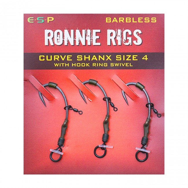5 X pre made n-trap 20lb Braid Ronnie Rigs//spinner Rigs Hook size 4 Barbless