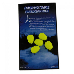 Enterprise Tackle Fluoro Glow Maize, Artificial Baits, Enterprise Tackle, Bankside Tackle
