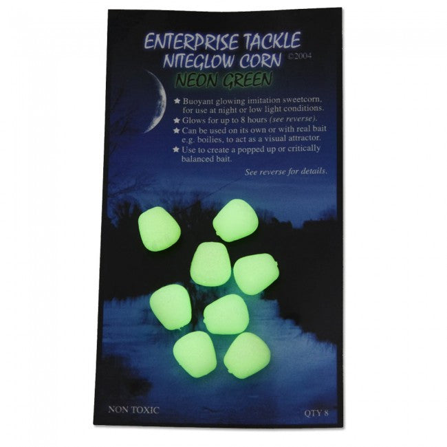 Enterprise Tackle Niteglow Corn Green, Artificial Baits, Enterprise Tackle, Bankside Tackle