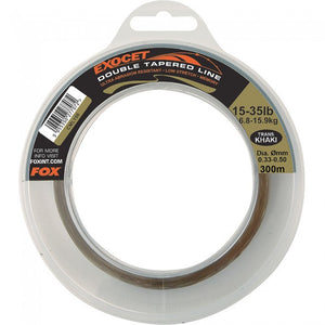 Fox Exocet Double Tapered Line Trans Khaki, Line & Braid, Fox, Bankside Tackle