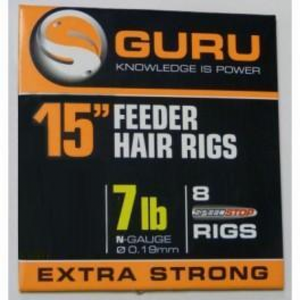 "Guru 15"" Feeder Hair Rigs Speedstop, Coarse Hooks, Guru, Bankside Tackle"