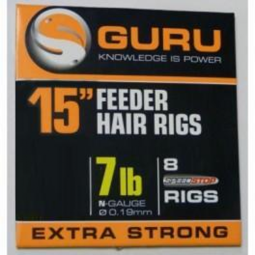 "Guru 15"" Feeder Hair Rigs Speedstop"