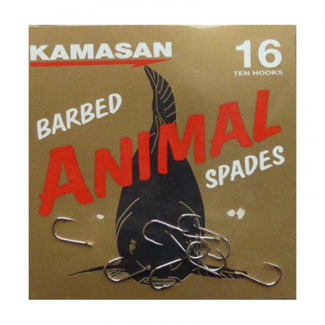 Kamasan Animal Spade End Hooks, Coarse Hooks, Kamasan, Bankside Tackle