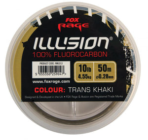Fox Rage Trans Khaki Illusion Fluorocarbon 8lb, Predator End Tackle, Fox Rage, Bankside Tackle
