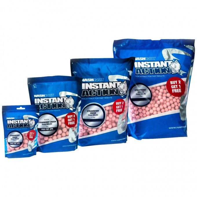 Nash Instant Action Strawberry Crush Boilies
