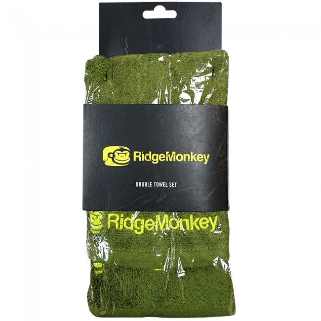 Ridgemonkey Double Towel Set 2pk, Bivvy Accessories, Ridgemonkey, Bankside Tackle