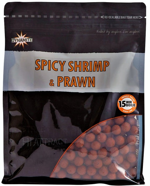 Dynamite Baits Spicy Shrimp & Prawn 15mm Boilies