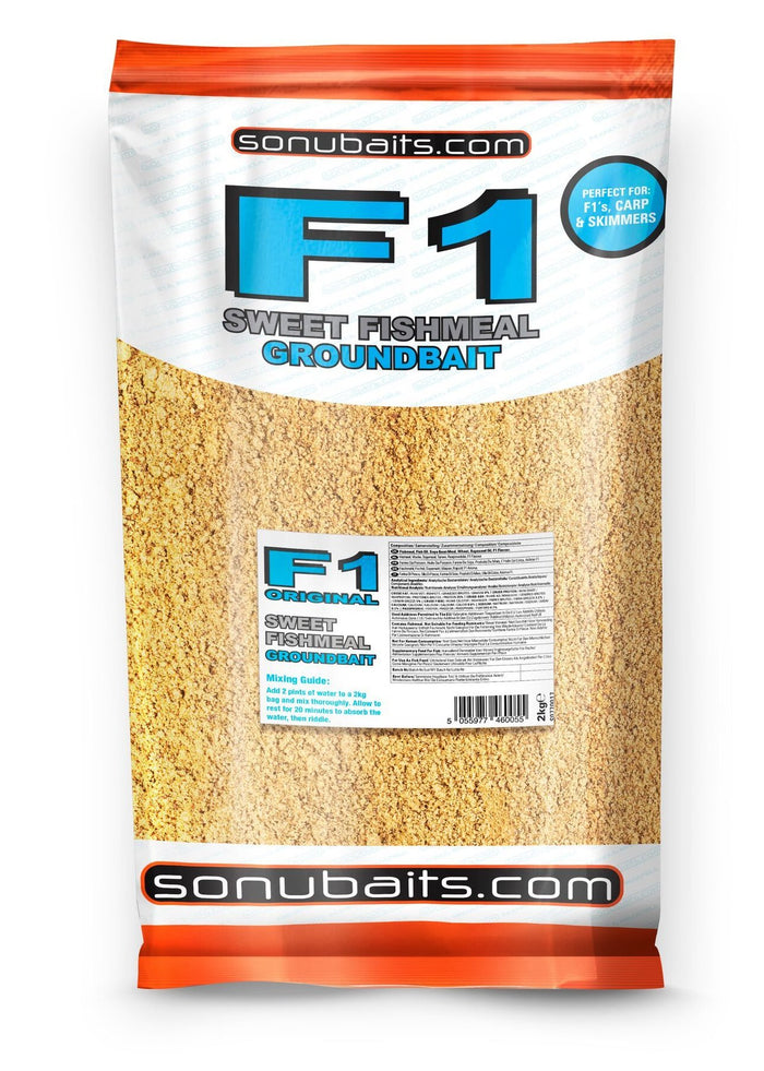 Sonubaits F1 Sweet Fishmeal Groundbait 2kg Bag