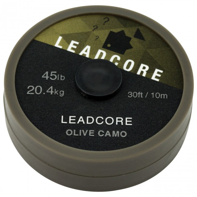 Thinking Anglers 10m Leadcore 45lb Olive Camo