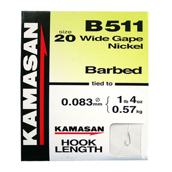 Kamasan B511 Barbed Hooks To Nylon