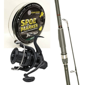 Free Spirit 13ft Spomb Rod Combo with Daiwa Spod Reel plus Bankside Spod Braid
