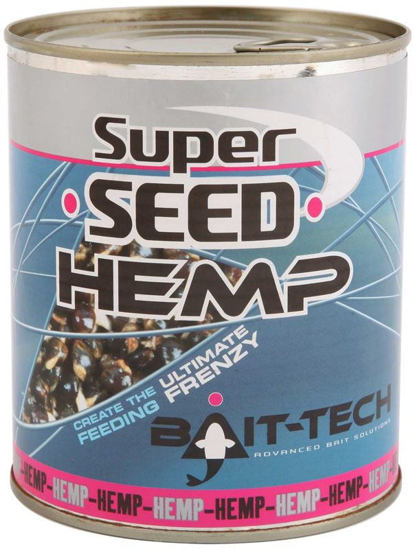 Bait Tech Super Seed Hemp Tin, Particles, Bait-Tech, Bankside Tackle