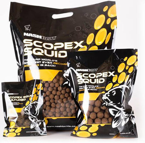Nash Scopex Squid Stabilised Boilies, Boilies, Nash, Bankside Tackle