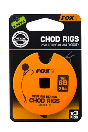 Fox Edges Stiff Chod Rigs Barbless