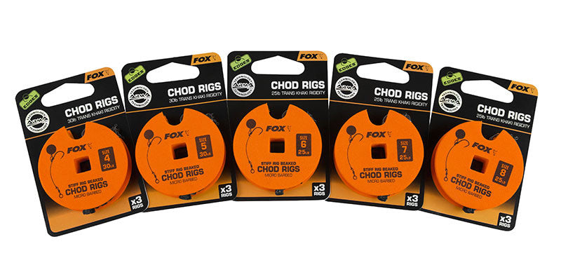 Fox Edges Stiff Chod Rigs Barbed