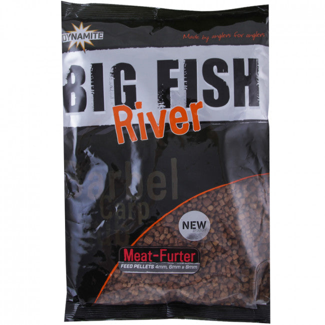 Dynamite Baits Big Fish River Meat Furter Pellets