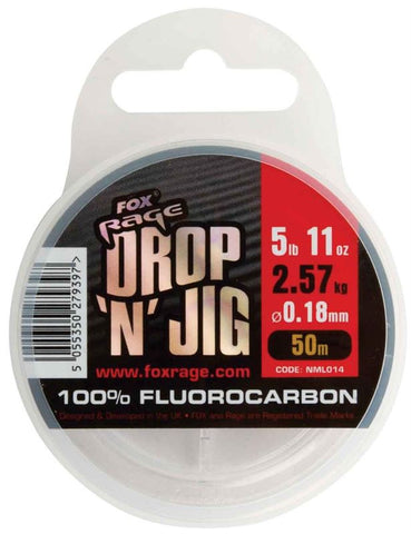 Fox Rage Drop & Jig Fluorocarbon, Dropshotting, Fox Rage, Bankside Tackle