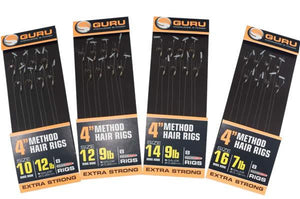 "Guru 4"" Speed Stop Rigs, Coarse Hooks, Guru, Bankside Tackle"