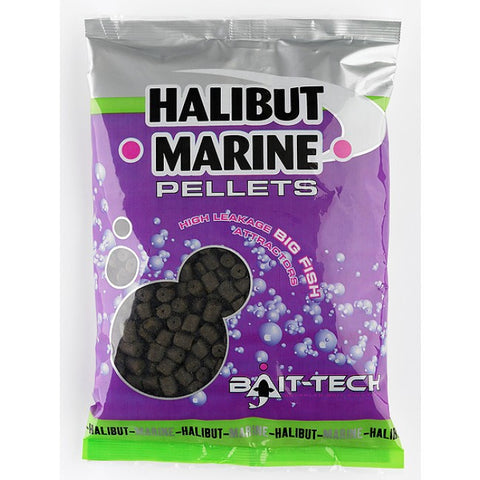 Bait Tech Halibut Marine Pellets Pre Drilled, Pellets, Bait-Tech, Bankside Tackle