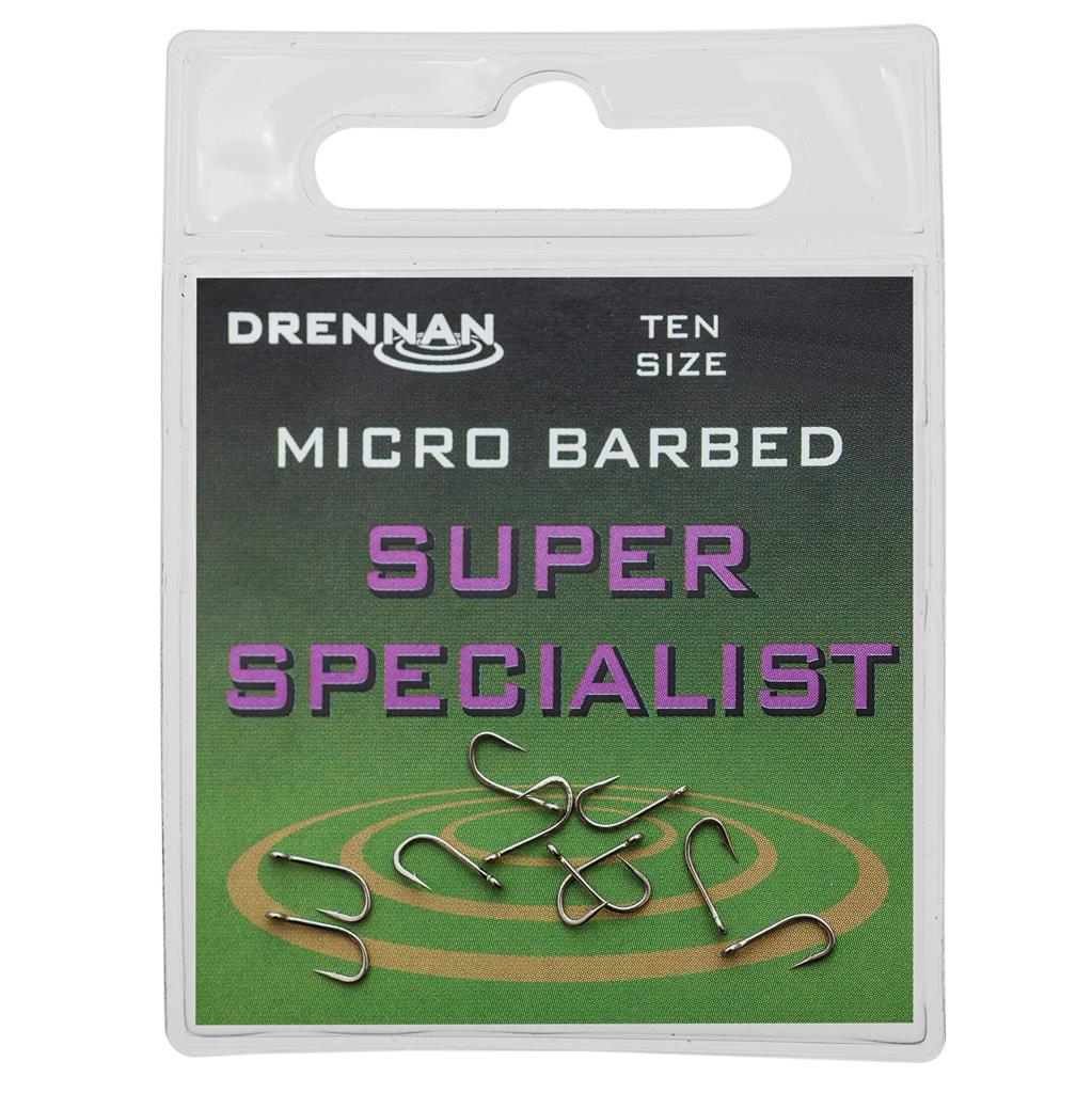 Drennan Super Specialist Micro Barbed Eyed Hook