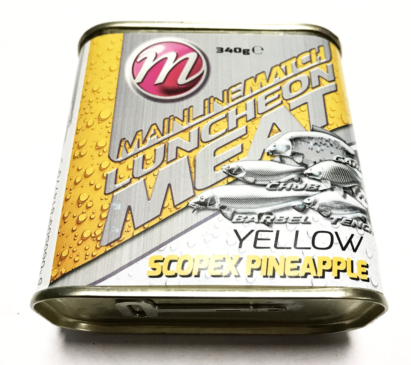 Mainline Baits  Flavoured Fishing Luncheon Meat  YELLOW SCOPEX  PINEAPPLE 340g
