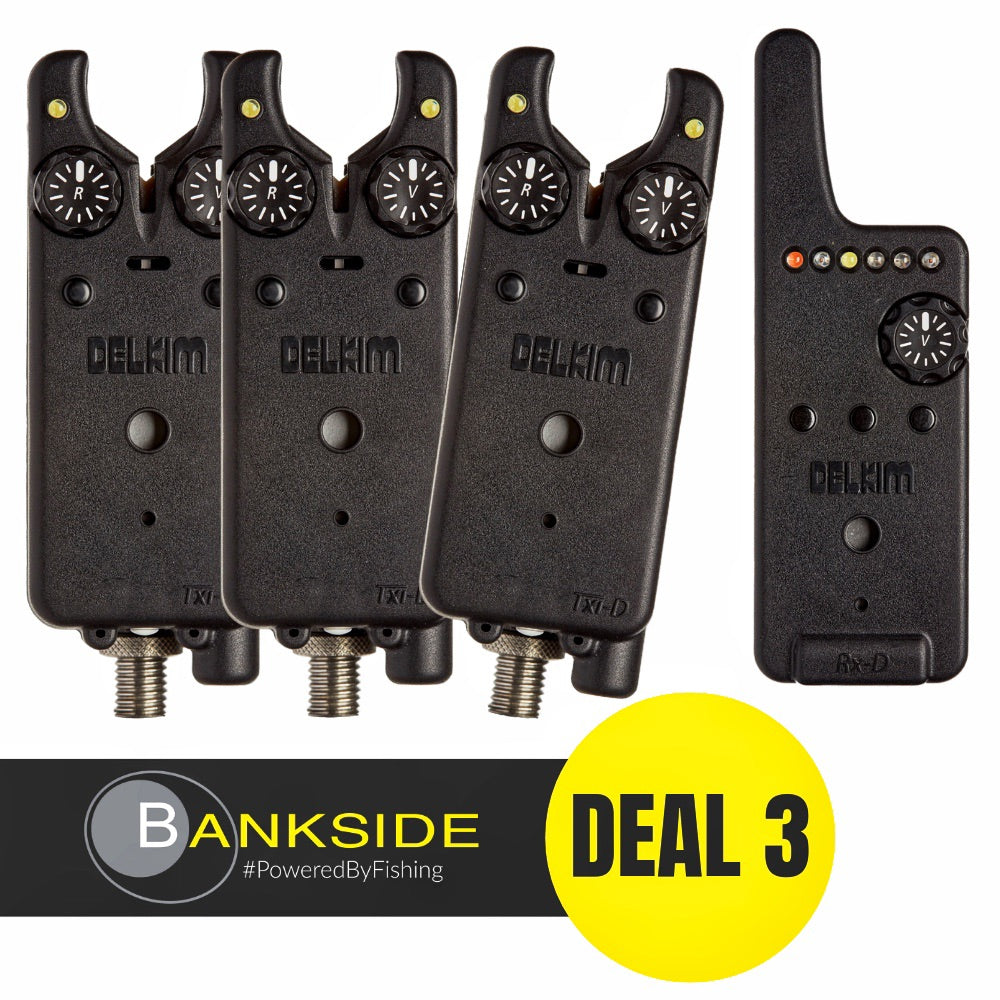 3 x Delkim Txi-D Alarms & Rx-D Receiver PLUS FREE DEAL 3
