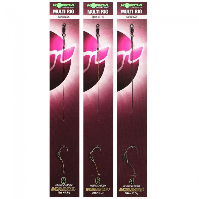Korda Ready Tied Multi Rig Barbless, Ready Tied Rigs, Korda, Bankside Tackle
