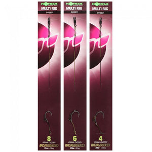 Korda Ready Tied Multi Rig Barbed, Ready Tied Rigs, Korda, Bankside Tackle