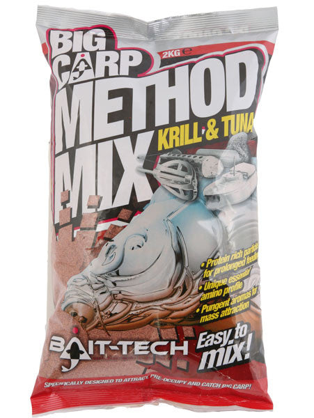 Bait Tech Big Carp Method Mix Krill & Tuna 2kg, Groundbaits, Bait-Tech, Bankside Tackle