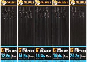 "Guru LWGS Pole Rigs 6"", Coarse Hooks, guru, Bankside Tackle"