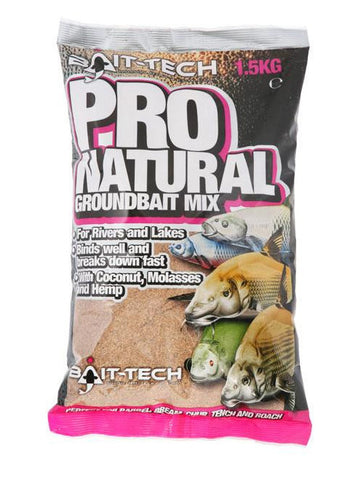Bait Tech Pro Natural, Groundbaits, Bait-Tech, Bankside Tackle